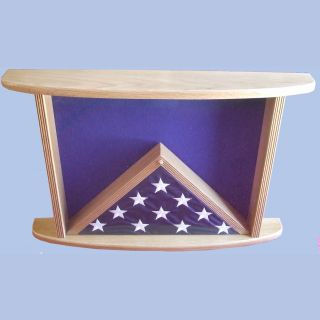 Oak Top View Displayed with 3x5 Flag