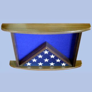 Walnut Top View Displayed with 3x5 Flag